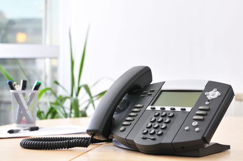 an office phone